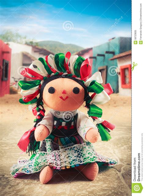 mexican rag doll mexican rag doll in a traditional dress on a mexican