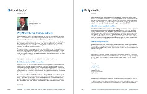 appointment letter pharma company polymedix defaults and a phii antibiotic to