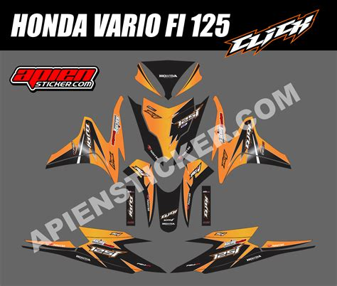 Sticker Striping Motor Stiker Honda Vario Fi 217 Biru Spec A striping motor vario fi 125 click orange apien sticker