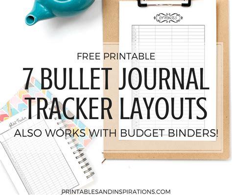 printable habit tracker bullet journal free printable bullet journal tracker layouts printables