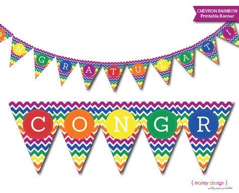 printable banner congratulations congratulations banner printable instant dowload rainbow