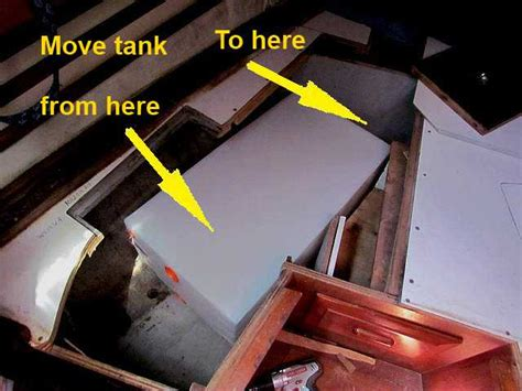 Endeavour Plumbing by New Holding Tank For Our Endeavour 37 Sailnet Community