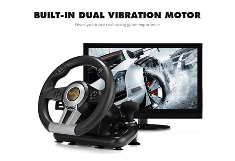 Pxn V3ii Vibration Motor Racing Steering Wheel With Pedal Pc Ps pxn v3ii 4 in 1 usb wired vibration motor racing
