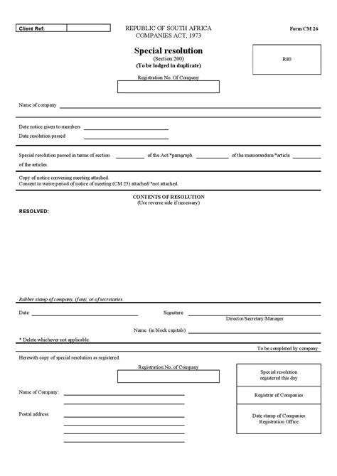 members resolution template a company resolution template formfactory