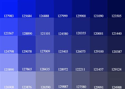 exceline paints blue purple color palette