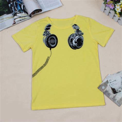 Shirt Design For Sale Sale New 2016 Headphone Design T Shirt Boys