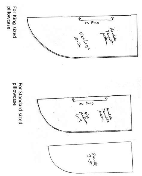 Armhole Template For Pillowcase Dress by Pillowcase Dress Armhole Templates Chart For Sizing When
