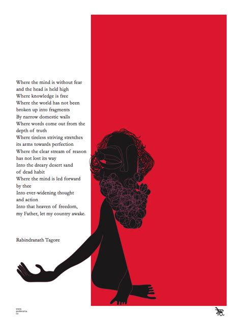 typography gifts poem rabindranath tagore where the mind is without fear poster 2 www posterama co