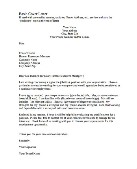 free cover letter template 11 free word pdf documents