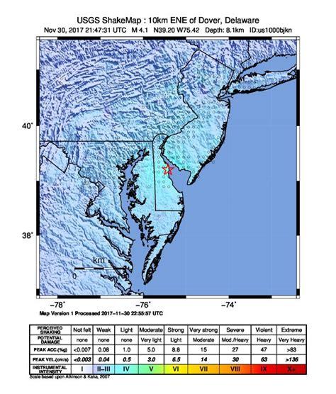 earthquake november 2017 unusual m4 1 earthquake near dover delaware