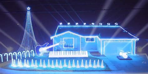 star wars themed christmas light show is probably