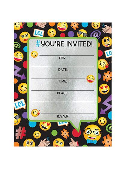 Need Emoji Foil Birthday Party Invitations 8 Count For Your Next Party Search Birthday In A Emoji Birthday Invitation Template