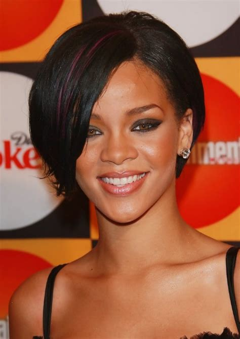 bob cut hairstyles rihanna rihanna bob hairstyles sexy short bob cut with side bangs