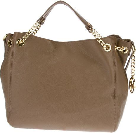 michael  michael kors chain handle tote  brown lyst