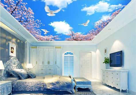 wallpaper awan plafon papier peint chambre plafond raliss com
