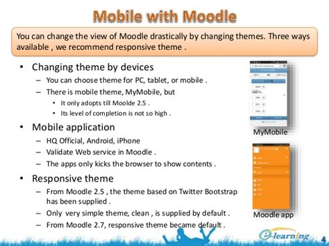 moodle theme not updating mobile learning with open source software