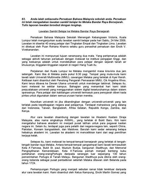 contoh laporan jurnalistik perjalanan bahasa sunda 100 karangan contoh pmr dan spm by zaiton zaba issuu