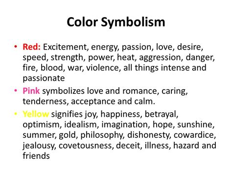 what color represents strength color symbolism excitement energy
