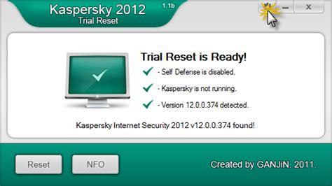 reset kaspersky settings kaspersky internet security 2012 ganjin trial reset
