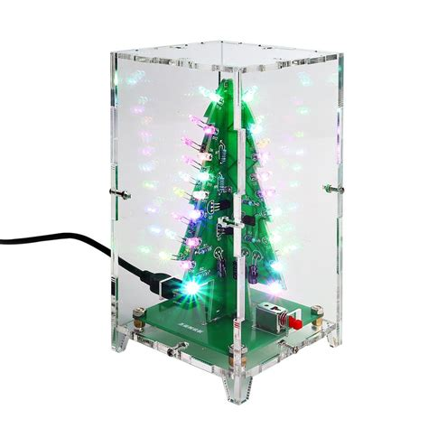 christmas tree electric parts 3d trees led diy kit sainsmart