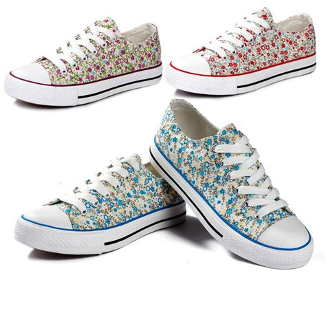 new s sneakers casual canvas shoes floral