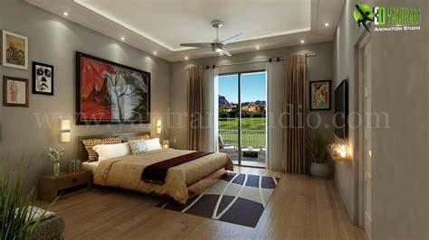 relaxing  modern bedroom design view
