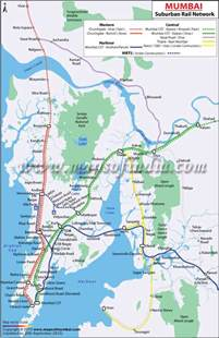 Mumbai Railway Map | Railway maps | Pinterest | Mumbai