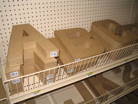 Paper Mache Letters Hobby Lobby