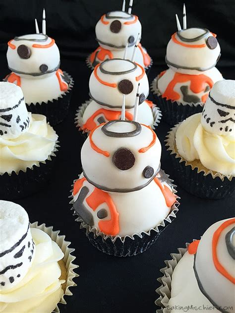 Easy Cake Decorating At Home by Star Wars Bb 8 Cupcakes Baking Mischief