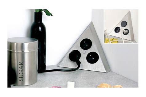 bloc multiprise cuisine multiprise d angle 224 fixer sur plan de travail accessoires