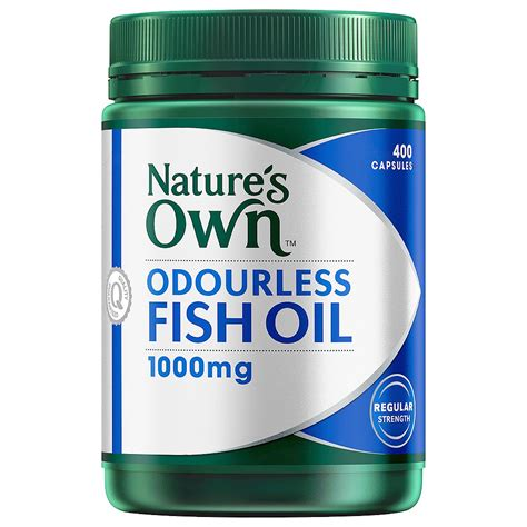 Natures Own Odourless Fish 1000mg 400 Capsules buy odourless fish 1000mg 400 capsules by nature s own priceline