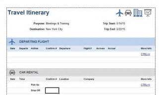 flight booking template 30 itinerary templates travel vacation trip flight