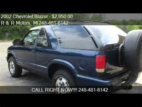 waterford ls for sale 2002 chevrolet blazer 2 door 4wd ls for sale in