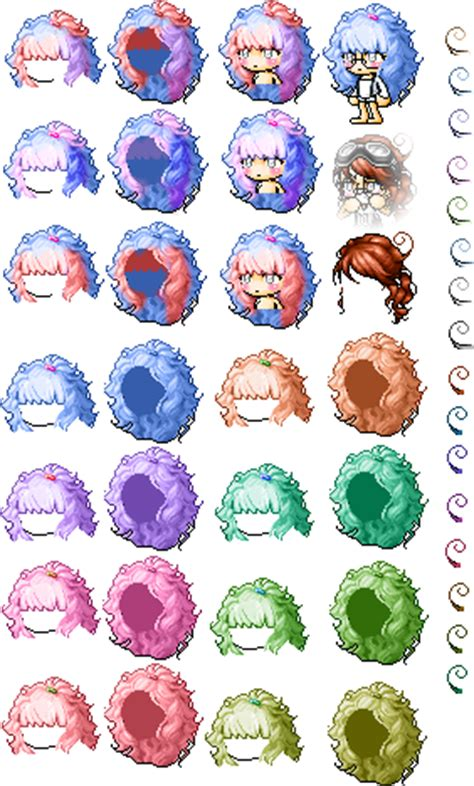 old maplestory hairstyles maplestory mixed hairs by kynjx on deviantart