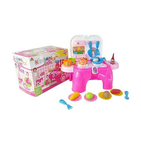 Kitchen Set Anak Pink jual kitchen kompor set mainan anak pink