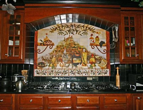 Kitchen Murals Design | italian tile backsplash kitchen tiles murals ideas