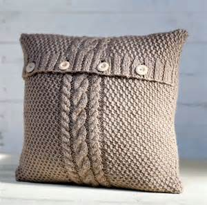 cable knit beige pillow cover handmade decorative