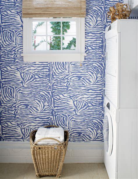 laundry room wallpaper zebra wallpaper contemporary laundry room suellen gregory
