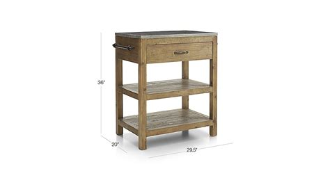 bluestone reclaimed wood large kitchen island crate and bluestone reclaimed wood small kitchen island crate and