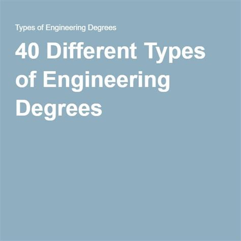 Type Of Mba Program Best For Engineering by 25 Best Ideas About Engineering Degrees On