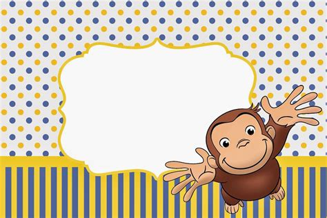 curious george free printable invitations oh my