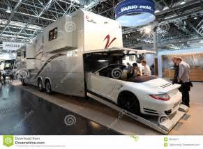 Rv Garage Plans Vario Mobil Rv With Built In Garage Editorial Photo