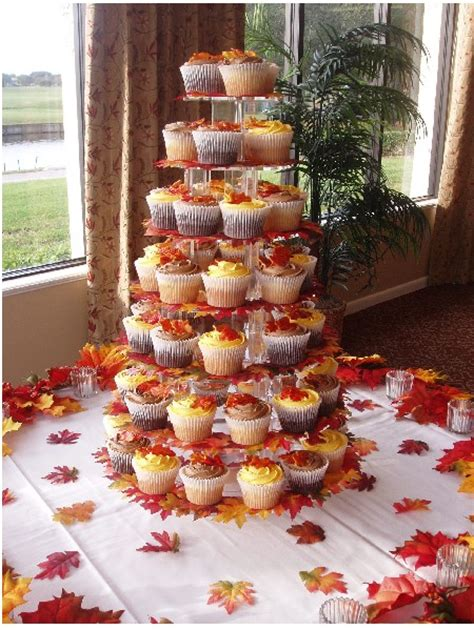 fall themed table decorations fall tree leaves theme weddingbee