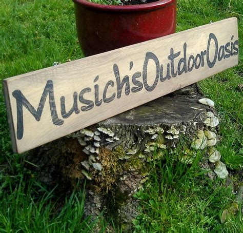 personalized outdoor sign rustic patio decor