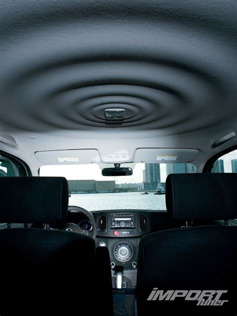 nissan cube interior roof 2009 nissan cube import tuner magazine
