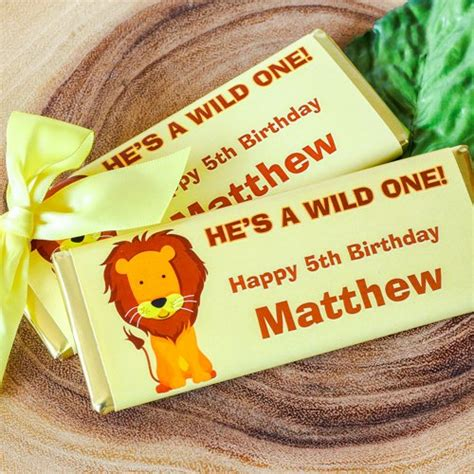 personalized birthday chocolate bars kids birthday