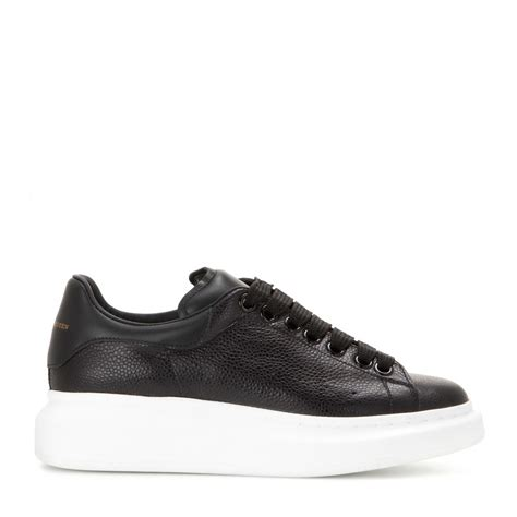 mcqueen sneakers mcqueen leather platform sneakers in black lyst