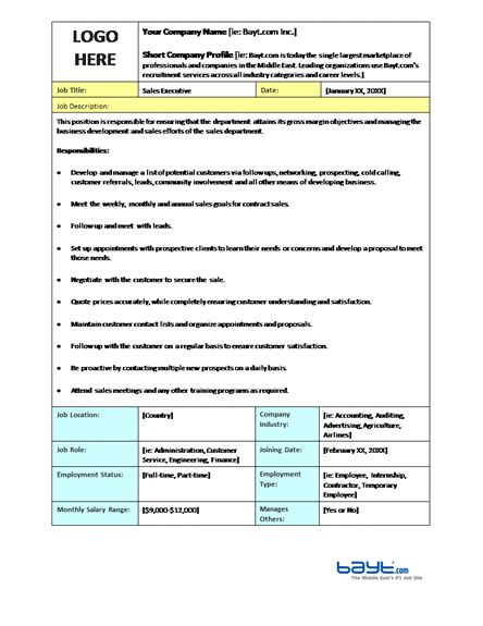 19 Free Job Description Templates In Word Excel Pdf Description Template Free Word