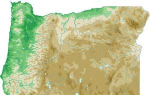 oregon topo map topographical map