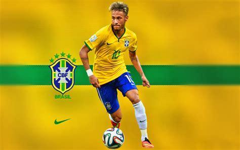 HD Background Neymar Jr Brazil Flag Football Yellow Jersey